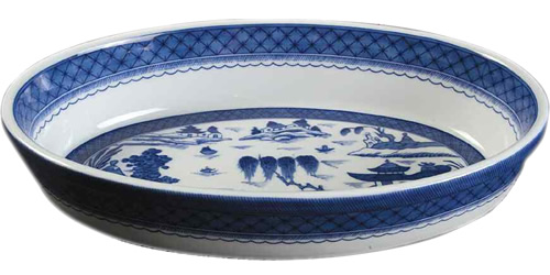 Mottahedeh Blue Canton S204 Oval Casserole