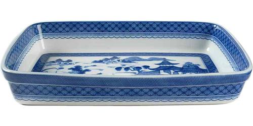 Mottahedeh S205 Blue Canton Medium Rectangular Baker
