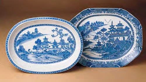 Mottahedeh Blue Canton Oval Vegetable and Medium Platter