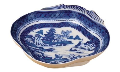 Mottahedeh Blue Canton Shell Dish