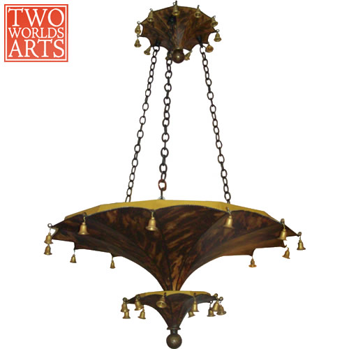 Two World Arts LCD2279 Two-tier Chinoiserie Umbrella Chandelier