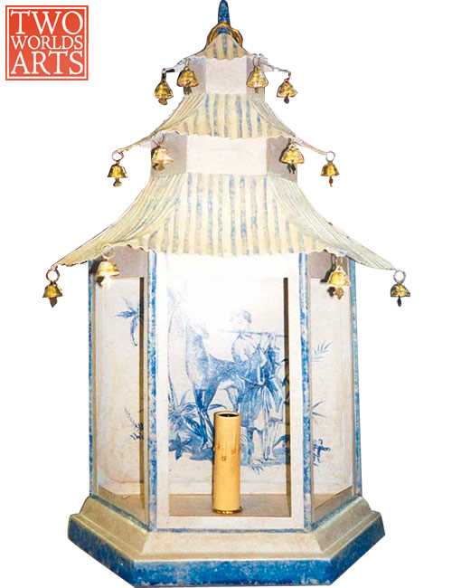 Two World Arts LSW0046 Chinoiserie Pagoda Wall Sconce