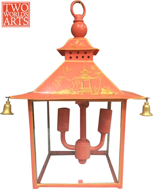 Two World Arts LCD2431 Red and Gold Pagoda Lantern