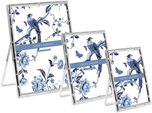 Laura Ashley Bamboo Silver Plated Photo Frame It is silver color, not actually silver