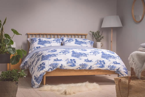 Foxford Woollen Mills Blue Willow Duvet Cover and Pillow Cases