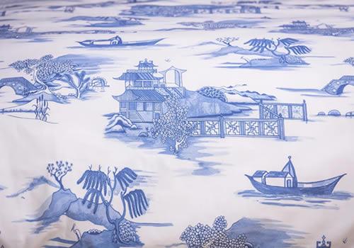 Blue Willow Bedding from Foxford Woollen Mills