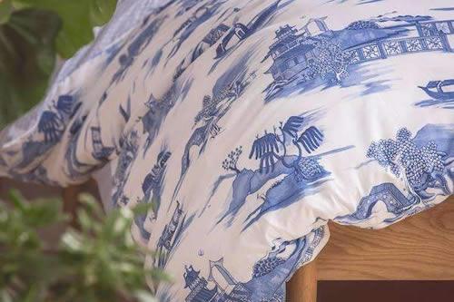 Foxford Woollen Mills Blue Willow Duvet Cover