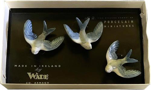 Wade Flying Birds Porcelain Miniatures