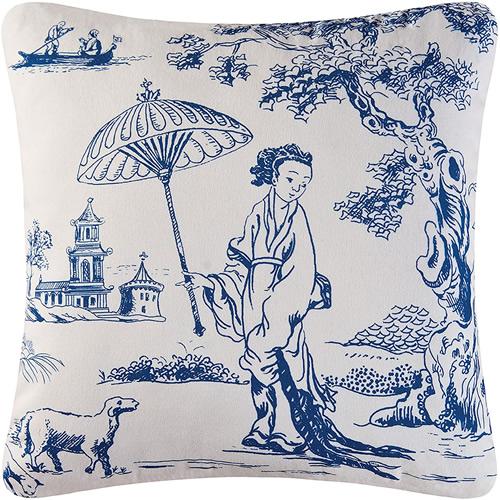 Colonial Williamsburg Foundation Hampstead Toile Geisha Pillow