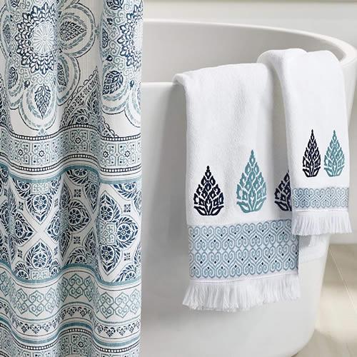 Peri Home Capri Medallion Towels and Shower Curtain