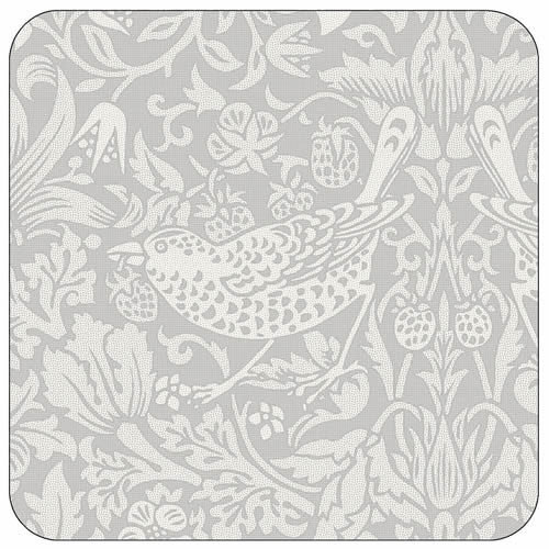 Pimpernel Morris & Co Strawberry Thief Coasters in Grey
