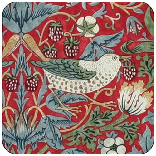 Pimpernel Morris & Co Strawberry Thief Coaster in Red