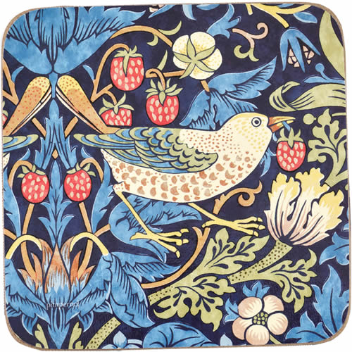 Pimpernel Morris & Co Strawberry Thief Coasters in Blue