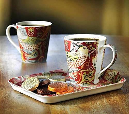 Morris & Co Strawberry Thief Melamine Tray and Spode Porcelain Mugs