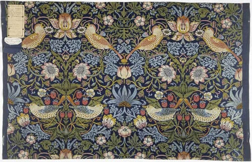 1883 Swatch of Strawberry Thief Fabric at the Victoria and Albert Museum V&A Victoria and Albert Museum