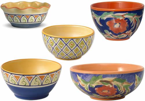 Pfaltzgraff Villa Della Luna Blue Stoneware Bowls