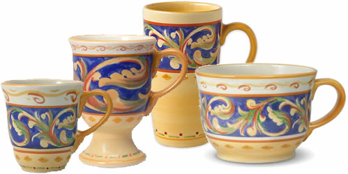 Pfaltzgraff Villa Della Luna Stoneware Mugs