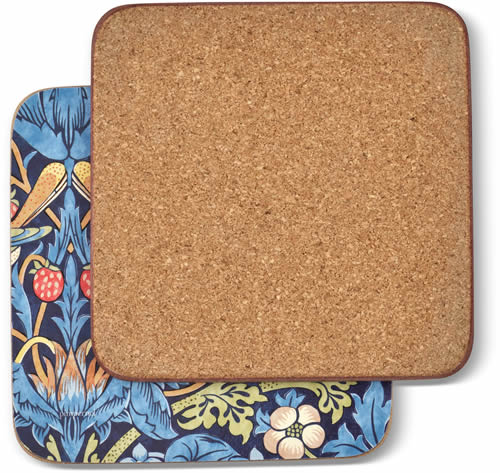 Pimpernel Morris & Co Strawberry Thief Coasters and Placemats have cork backing
