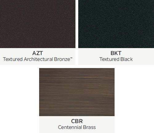 Kichler VLO Landscape Lighting Finishes AZT Textured Architectural Bronze BKT Textured Black CBR Centennial Brass