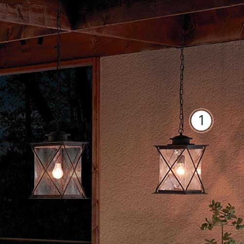 Kichler 49747WZC Argyle 1-Light Outdoor Lantern