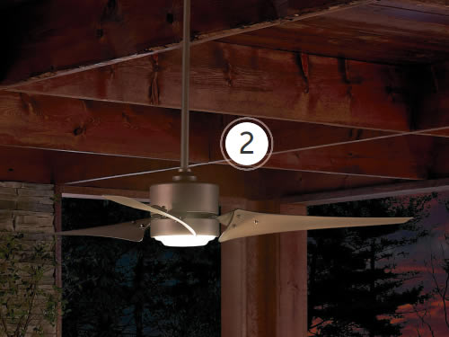 "Kichler 310155NI Rana 60"" Ceiling Fan with Integrated LED Light"