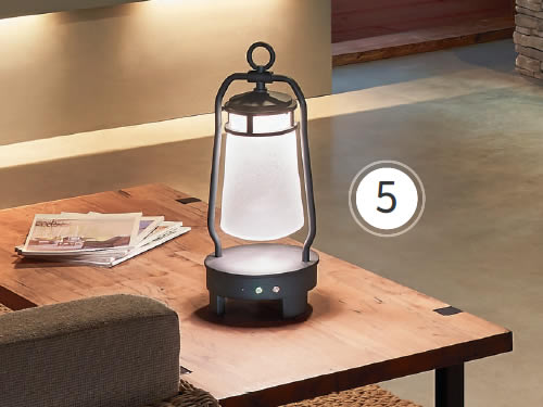 Kichler 49500BKTLED Lyndon Rechargeable Wireless Portable LED Lantern with built-in Bluetooth speaker