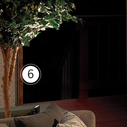 Kichler VLO LED Small Accent 12V Integrated LED uplighting a potted tree