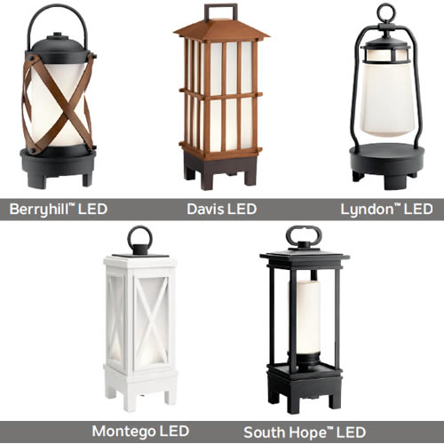 Kichler Rechargeable Wireless Portable Lanterns with built-in Bluetooth® speakers to fit any style