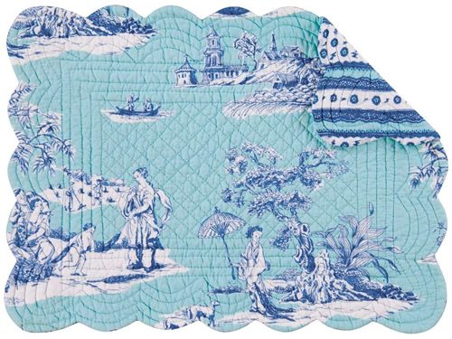 Colonial Williamsburg Foundation Hampstead Chinoiserie Toile Rectangular Placemat