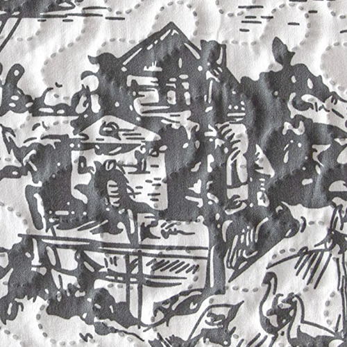Grey Classic Dutch Landscape Toile Print from Cozy Home