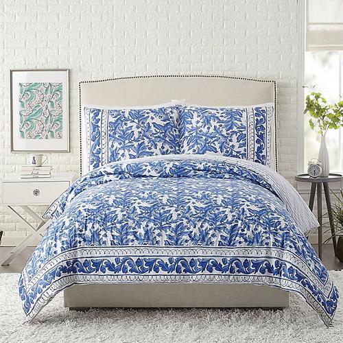 Maker's Collective Full/Queen Blue Bird Bedding