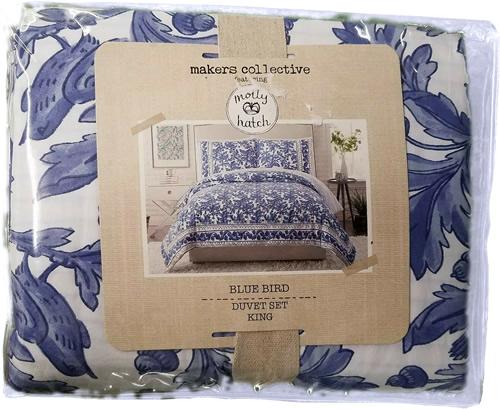 Maker's Collective Molly Hatch Blue Bird Duvet Set