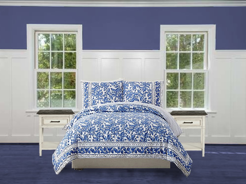 Makers Collective Blue Bird Duvet and Shams