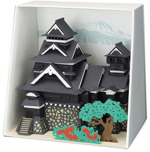Paper Nano Kumamoto Castle Building Kit