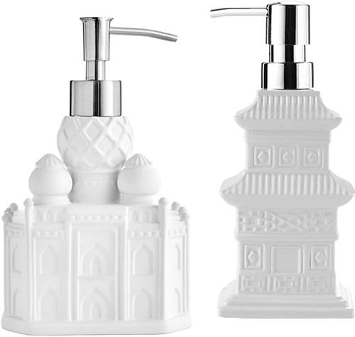 Vern Yip Shangri La Taj Mahal Pump and Chinoiserie Pagoda Soap or Lotion Pump