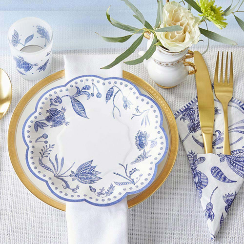 Blue Willow 7-inch Premium Paper Plates