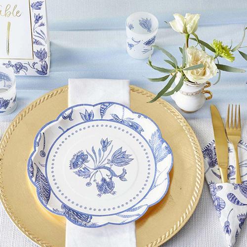 Blue Willow 9-inch Premium Paper Plates