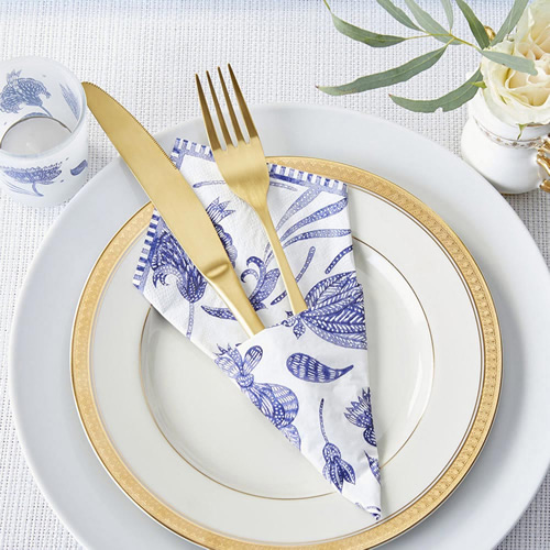 Blue Willow 2 Ply Paper Napkin