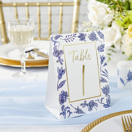 Blue Willow Wedding Table Number