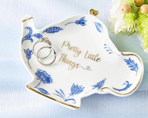Blue Willow Teapot Pretty Little Things Trinket Dish